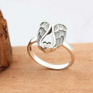 Angel's Wings Heart Shape Ring